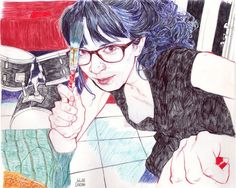 Pen on paper illustration by Julian Landini Art And Illustration, Illustrations, Hope Gangloff, Figurative Kunst, Gcse Art, Pen Art, Community Art, Figure Painting, Watercolors