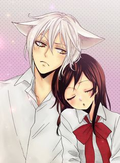 Tomoe and Nanami. -- Kamisama Hajimemashita, anime, cute, fan art, characters, adorable anime couple