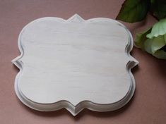 Items similar to Four Point Fancy Unfinished Solid Wood Plaque on Etsy Unfinished Wood Plaques, Hand Router, Slab Pottery, Scroll Saw Patterns, Wood Cutouts, Wooden Decor, Personalized Signs, Types Of Wood, Solid Wood