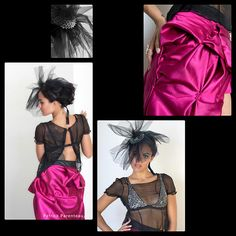 Pretty Bastard | Look Book Edgy pink gown bicycle part edgy silk metal