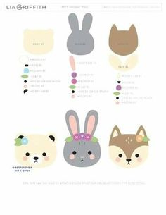 See our pics of felt crafts, DIY tutorials and patterns to spur your creativity. Felt Animal Patterns, Felt Crafts Patterns, Stuffed Animal Patterns, Book Projects, Sewing Projects, Plotter Silhouette Cameo, Easy Felt Crafts, Felt Templates, Applique Templates