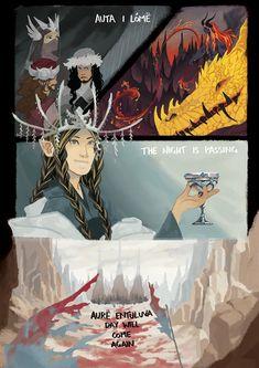 Characters of Silmarillion. Ulfast, Under, Ulwarth, Gotmog, Glaurung, Fingon by Alyruko.