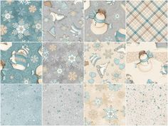 """I Still Love Snow! Flannel 10"""" Squares - Simply Shelly - Henry Glass — Missouri Star Quilt Co."""