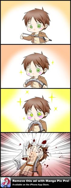 Then Eren turned into a Titan, and went and destroyed all the gear