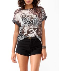 Heathered Leopard Top | FOREVER21 - 2019572293