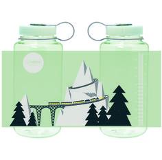 "Available on www.nalgene.com on Nov. 1, 2015 for $10.99. Exclusive 2015 Holiday Bottle, ""Polar Train."""