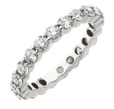 Diamond Wedding Rings 2017 / 2018 : Image Description white gold, diamond eternity ring, The ring has 20 round brilliant cut diamonds each measures about with approximate total weight of in size The diamonds are graded as VS in clarity, G-H in color. Platinum Diamond Eternity Ring, Best Diamond, Diamond Wedding Rings, Diamond Cuts, Wedding Bands, Eternity Rings, Wedding Things, Wedding Stuff, Rings 2017