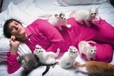 Andy Samberg and Kittens for Wired Magazine