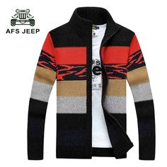 Cardigans Able Afs Jeep Brand Autumn Sweater Men Striped Patchwork Color V-neck Cardigans Men M-3xl Knitted Wear Cardigan Masculino Men Sweater Men's Clothing