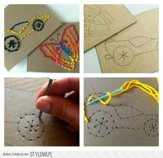 Fun with Kids / Sewing for Kids - Easy Stitch Cards: Pr ... on Stylowi.pl
