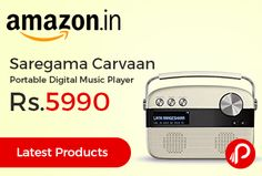 Amazon brings Latest Products in audio and offering Saregama Carvaan Portable Digital Music Player at Rs.5990 Only. 5000 pre-loaded songs evergreen Hindi songs from legends like Kishore Kumar, Lata Mangeshkar, R.D Burman and many more. In-built stereo speakers, 12 months in-home warranty support.  http://www.paisebachaoindia.com/saregama-carvaan-portable-digital-music-player-at-rs-5990-only-amazon/