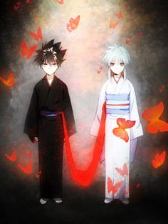 yu yu hakusho: Yukina and Hiei Yu Yu Hakusho Hiei, Manga Bl, Japanese Animated Movies, My Little Monster, Another Anime, Hunter Anime, Anime People, Otaku Anime, Anime Boys
