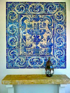 azulejos. hand made portuguese tiles.  FHU by the cardinal de la ville, via Flickr