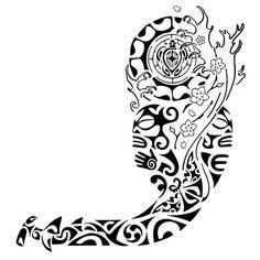 tiki surfer tattoo designs | tatuagem.polinesia.maori.kirituhi