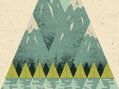 Dribbble - Mountains by Doe Eyed