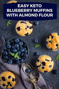 Make the best almond flour blueberry muffins from scratch in one bowl or your blender! These low carb paleo blueberry muffins make a fabulous breakfast on the go or snack that's ready in 30 minutes and freezer friendly! Get this recipe and whip up a batch for yourself today! #keto #lowcarb #muffins #breakfast #paleo Blueberry Muffins From Scratch, Paleo Blueberry Muffins, Almond Flour Muffins, Almond Flour Recipes, Blue Berry Muffins, Muffin Recipes, Keto Recipes, Free Recipes, Easy Recipes