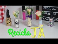 DIY: Utilizando frasco de esmalte na DECORAÇÃO #recicla - Aline Sous - YouTube