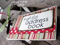 3 x 5 card address book...