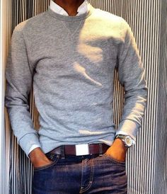 Read on to know about the three different ways men can style their crew neck sweater and look cool this winter.
