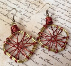 Antique Gold and Copper Wire Hand Wrapped by PeacocksandLeopards, $18.00