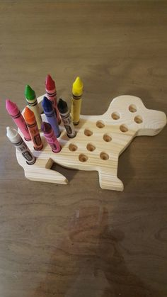 Wooden Crayon holder Dog for Large Sized by LittleWoodCreations