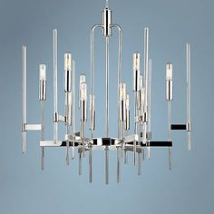 """Hudson Valley Bari 24"""" Wide Polished Nickel Chandelier - #5T169 