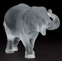 Lalique Frosted Elephant