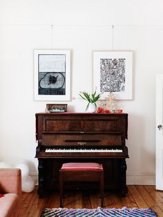 Pianos are rather maligned in homes nowadays but I say if you have room, get one! It rescues them from being destroyed and they look beautiful.