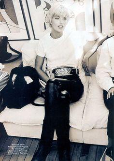 Linda Evangelista in Vogue US, July 1991 by Arthur Elgort.  @thecoveteur
