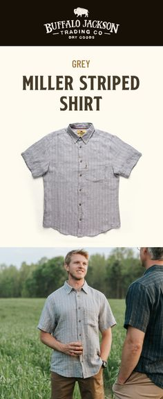 These men's casual button down shirts are a guy's favorite go-to. Perfect for cool days on the trail or at the tailgate. Easy to dress up or down, whatever your style. Casual Professional, Clothing Staples, Tailored Shirts, Fishing Shirts, Casual Summer Outfits, Striped Shorts, Casual Button Down Shirts, Men's Shirts, Jackson