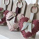 Vintage Style Love Heart Keyring