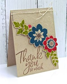 Thank You So Much Card by Michelle Leone for Papertrey Ink (June 2017)