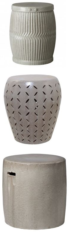 Cool 43 Best Gray Garden Stool Images Ceramic Stool Grey Inzonedesignstudio Interior Chair Design Inzonedesignstudiocom