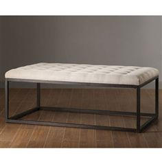 Add style, color, and drama to any room in the house with this Contemporary Coffee Table Ottoman. This Renate coffee table ottoman is a multifunctional piece topped with linen soft brown polyester fabric, featuring a rustic metal frame.  18 inches high x 28 inches wide x 48 inches deep, Buy it now! - http://kindachic.com/home-essentials-shop/#!/~/product/category=1960185=16155305