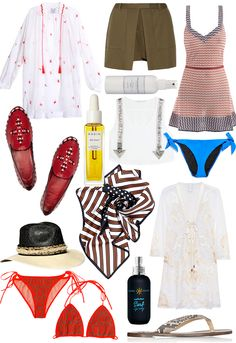 SUMMER WISHES - TB loafers, dress, hat...all good things.