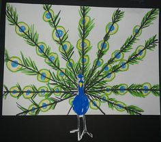Arts Visuels: Le paon - Chez Maliluno Creation Art, Easy Coloring Pages, Gifts For Photographers, Summer Art, Painting For Kids, Art Plastique, Art School, School Stuff, Beautiful Birds
