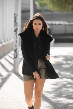 CLOTHING    Cardigans    Suede Fur Cardigan Black - modaboom  147afe98e