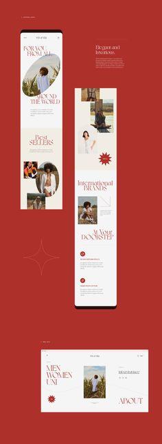 Web Design, Website Design Layout, Page Design, Layout Design, Brand Identity Design, Branding Design, Beauty Web, Promotional Design, Ui Web