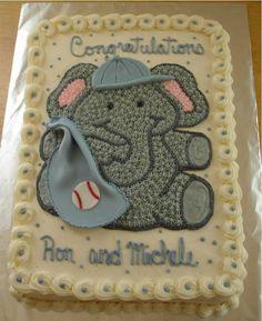 Baseball Elephant For Baby Shower on Cake Central