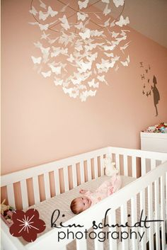 butterfly mobile Adoption Baby Shower, Butterfly Mobile, Girl Rooms, Kids Decor, Home Decor, Baby Bedroom, Little Darlings, Happy Campers, Nursery Ideas