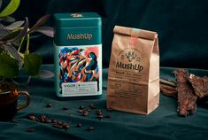 MushUp - Branding & Packaging on Behance Coffee Packaging, Food Packaging, Brand Packaging, Luxury Packaging, Design Packaging, Coffee Branding, Coffee Illustration, Behance, Coffee Photography