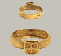 Gold Ring with Busts of Married Couple  Roman, late 4th or early 5th century