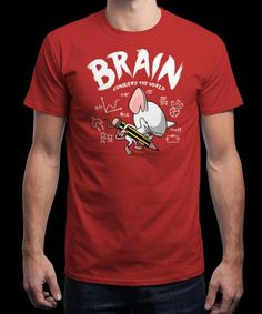 """BrainConquersTheWorld"" is today's £9/€11/$12 tee for 24 hours only on www.Qwertee.com Pin this for a chance to win a FREE TEE this weekend. Follow us on pinterest.com/qwertee for a second! Thanks:)"