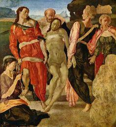 Mise au tombeau, par Michel-Ange