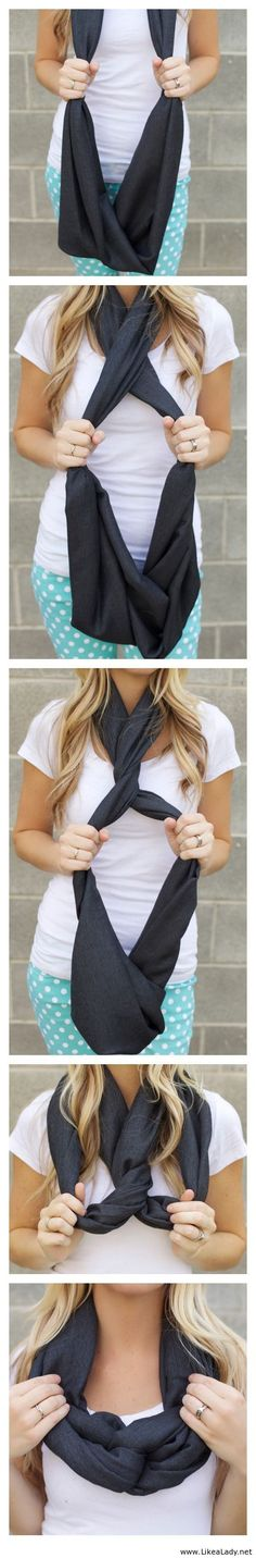 Another way to tie an infinity scarf