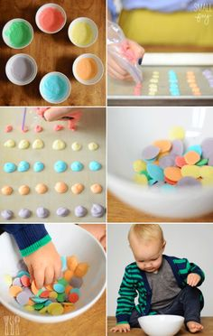 Make frozen yogurt dots!