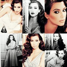 I LOVE Kim K....Old Hollywood glam. She looks absolutely STUNNING!!!