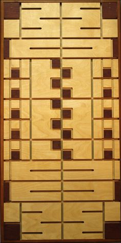 If Frank Lloyd Wright designed slatwall for retail, this would be it. Time Based, Slat Wall, Frank Lloyd Wright, Welsh, Textile Design, American Art, Lincoln, Roots, Graphics