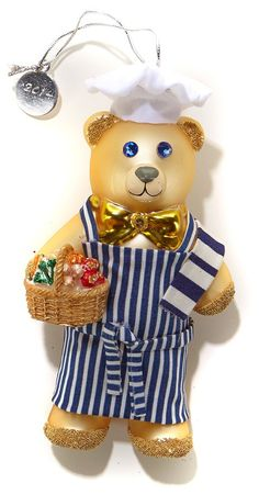 Designed by Curtis Stone, this holiday bear wears his maker's trademark striped apron and a classic chef's hat. He brings something else too — a warm glow to your heart and others in the name of helping St. Jude Children's Research Hospital®.