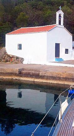 white chapel on a small greek island. Photo Ifigenia Sofia